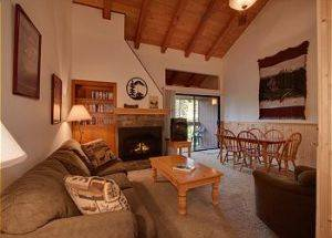 Condo Rentals Living Room with Fireplace in Lake Tahoe