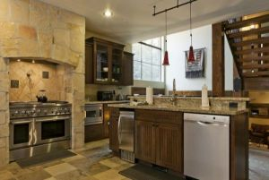 Kitchen with Granite Countertops and Appliances Lofts Unit 1