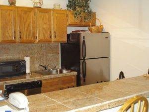 Mountain Side Condo #211C Kitchen with stainless steel appliances