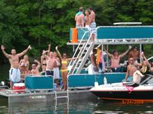 Dale Hollow Lake Double Decker Pontoon Boat Rental in Tennessee