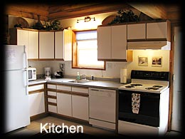 Fully Equipped Kitchen in Pioneer Cabin