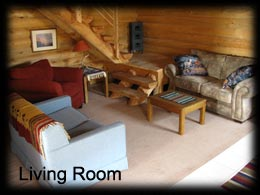 Living Area in the Pioneer Cabin