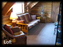 Loft Area of the Pioneer Cabins