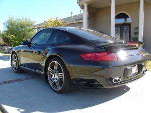 Los Angeles Turbo 911 Porsche For Rent -View of Back of car