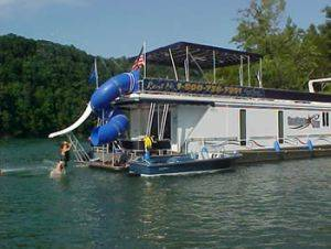 Southern Star  Back Slide on the Houseboat For Rent in Dale Hollow Lake Tennessee