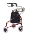 Wheeled Rollator with Bag and Basket