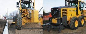 Volvo 946B Motor Grader Rentals front and rear display