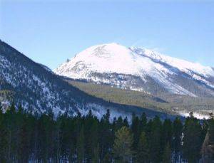 View of Mountains in Frisco Colorado