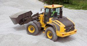 Volvo L45 Loader at work in a gravel pit in Cincinnati, OH