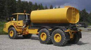 Volvo Water Truck Rental with 6 to 8,000 lb capacity