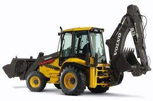Loader Backhoe with Excavation and Loader Attachments