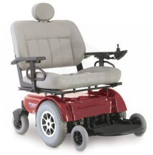 Red Jazzy 1650 Heavy-Duty Power Chair