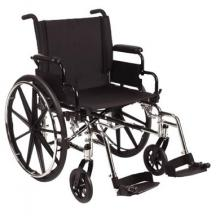 Black Wheelchair with Foot Rest