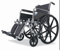 Bariatric Wheelchair With Padded Leg Rest