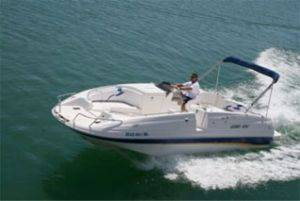 24ft Tahoe Deck Boat for Rent in Lake Havasu, Arizona