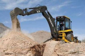 Back Hoe Excavating a Job Site in Ohio