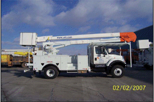 55 foot Cherry Picker on 4 x 4 chasis