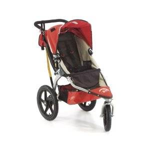 Red and black jogging stroller