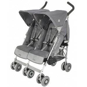 Orange County Maclaren Techno Twin Stroller