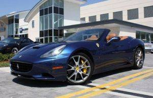 new york city exotic car rentals   ferrari california for