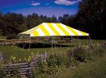 Yellow and white tent