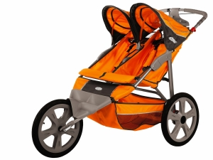 Double Stroller With Slip Resistant Handles