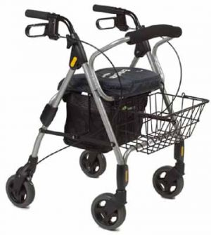 Rollator Walker With Basket and Seat