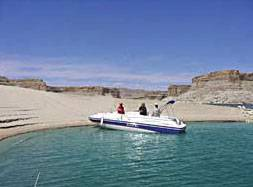 Lake Powell Boats for rent.  Donzi deck boat