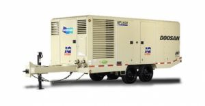 Model HP1600 WCU Towable Air Compressor made by Doosan