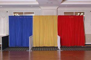 Multi Color Linen Drapes