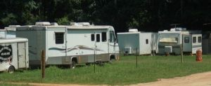 Motor Home Storage At Campsite