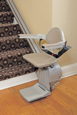 Stair Lift With Folding Arms and Footrest