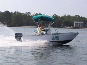 Orange Beach Cruising 18ft Fishing Boat Rentals in Alabama