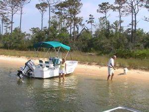 Orange Beach Beached 18ft Fishing Boat Rentals in Alabama