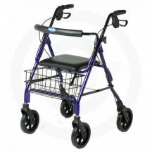 Invacare 4 Wheeled Blue Rollator/Transport Chair