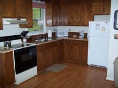 Cabin Foxwood Kitchen with hardwood floors