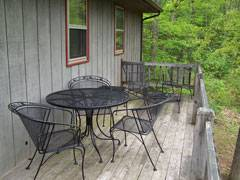 Cabin Foxwood Deck with patio furniture