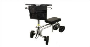Knee Walker With Front Carry Pouch
