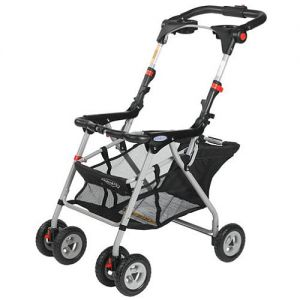 Graco SnugRider Infant Car Seat Frame Stroller With Cup Holders