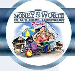 Logo for Moneysworth Beach Equipment & Linen in Virginia Beach, Virginia