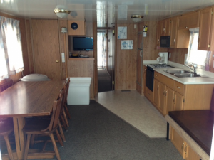 kitchen in houseboat
