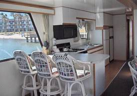 Lake Havasu Interior of a Houseboat Rentals in Arizona