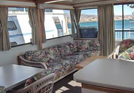 Interior Cabin of a Houseboat Rentals in Arizona