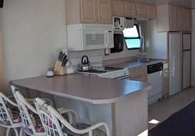 Kitchen for the 65ft Houseboat for Rent in Lake Havasu, Arizona