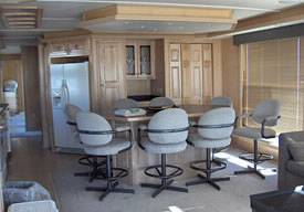 Dining Area 75ft Executive Boat Rentals in Lake Havasu, in Arizona
