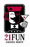 21 Fun Casino Party Rentals Logo