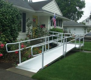 Modular Ramp With Handrails
