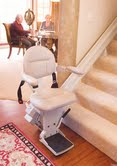 Indoor Stairlift with Folding Seat and Arm Rests