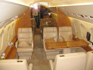 Fort Lauderdale Interior Cabin of a Heavy Jet Rentals in Florida