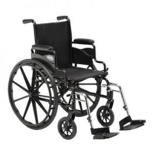 Manual Wheelchair With Leg Rest